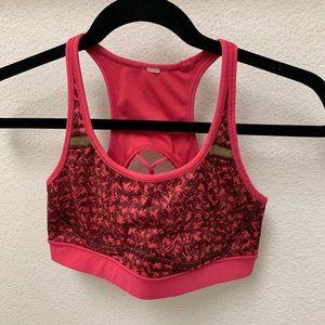 Pink lululemon sports bra size 6